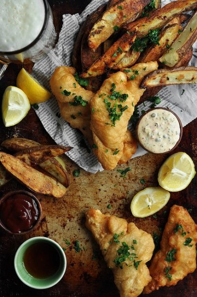 Рыба с картофелем фри (Fish and Chips)